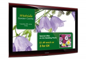image of information screen for a garden centre