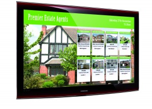 image of estate agents screen