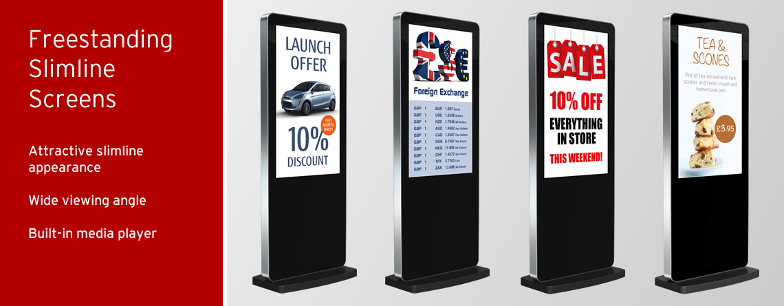 Slimline Freestanding Displays