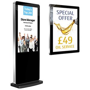 image of digital display screens
