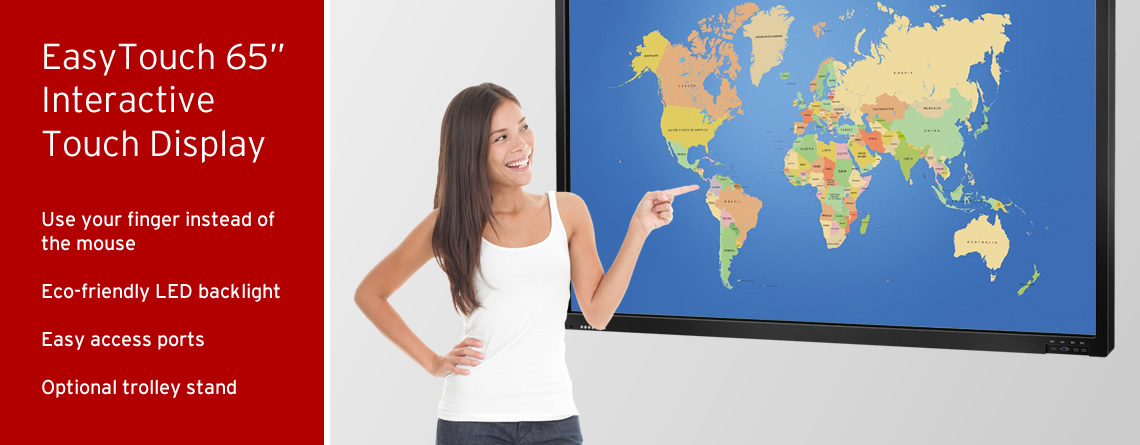 """EasyTouch 65"""" Interactive Display Touchscreens"""