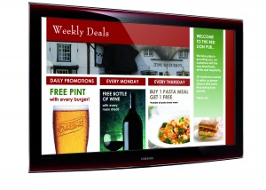 image of pub or restaurant welcome screen